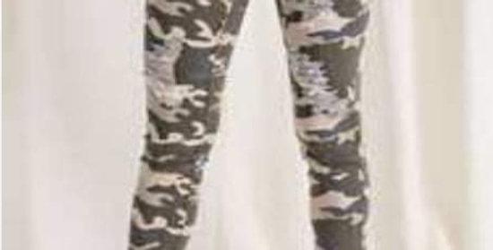 Camo Distressed Jeans #0022E