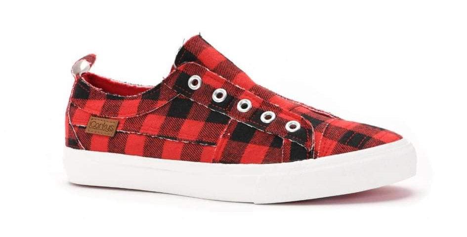 Buffalo Plaid Sneakers #0011C