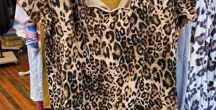 Leopard Distressed Tee RB#0022