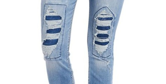 OMG Distressed Patch Jeggings