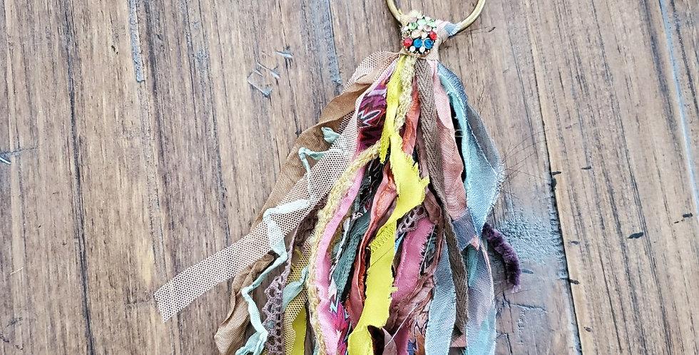Muted Multi Color Tassel Necklace--Handmade