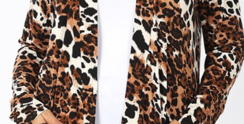 Leopard Pocket Cardigan