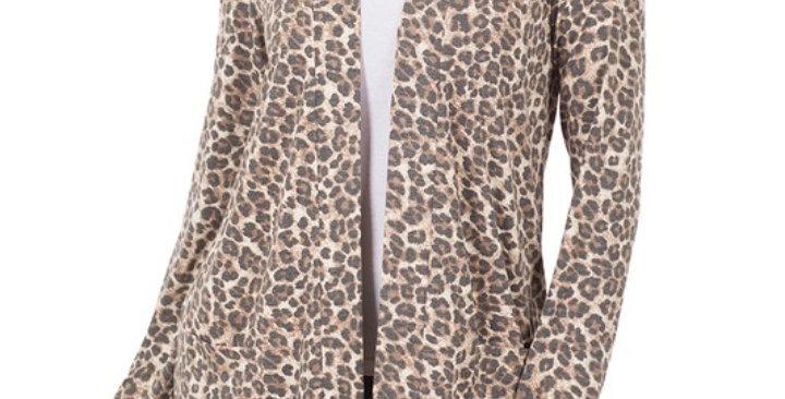 Mocha Leopard Cardi #0022 Z