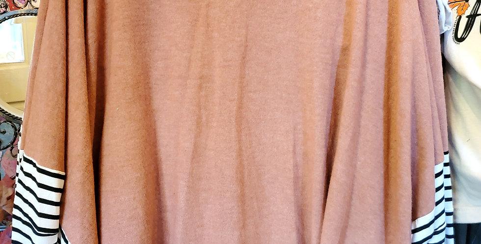Dolman Sleeve Oversized Tunic Peach