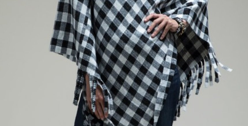 Buffalo Check Poncho 3 colors