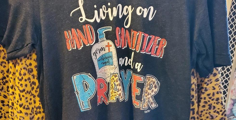 V-Neck Tee Livin On Hand Sanitizer And A Prayer