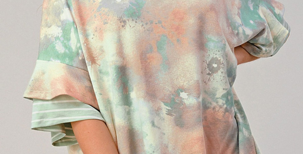Monet Double Bell Sleeve Top -O011