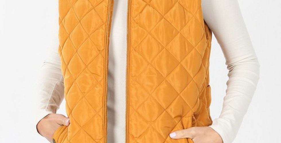 Mustard Puffer Vest