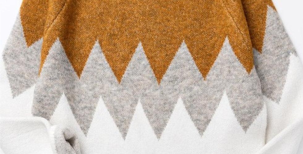 Mustard Chevron Sweater-TN
