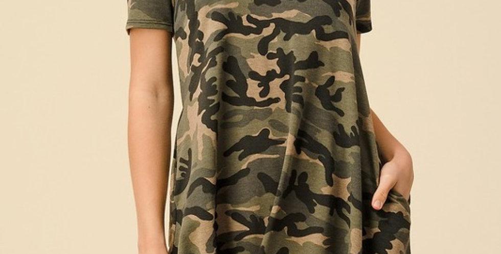 Camo Knotty Dress -CNS011