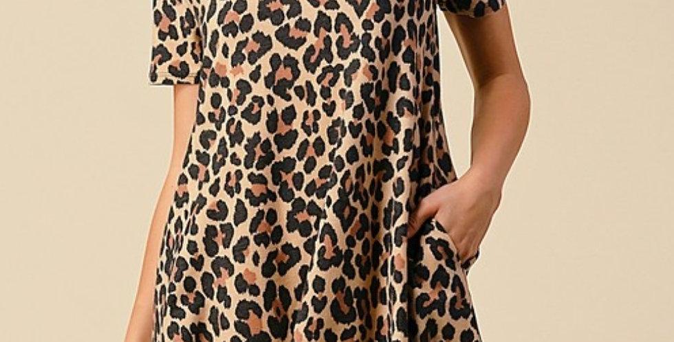 Leopard Knotty Dress -CNS011