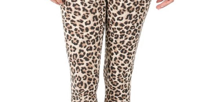 Mocha Leopard Leggings #0022 Z