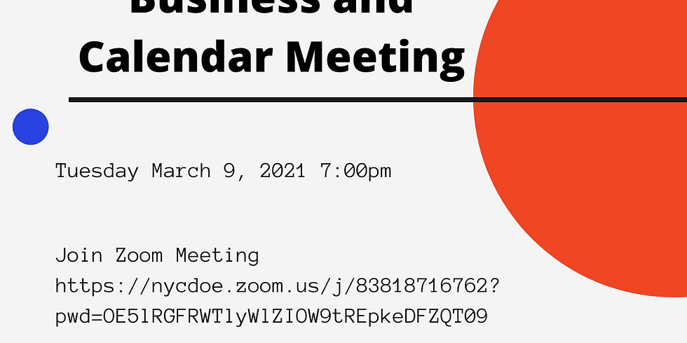 CEC March Business and Calendar Meeting