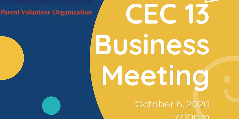 October Business Meeting