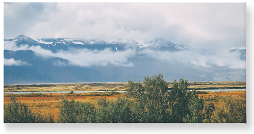 Iceland - Wooden Canvas Print