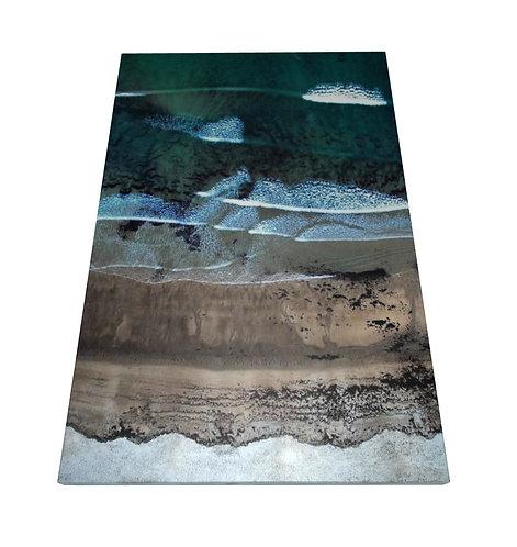 Ocean Waves, San Diego - Wooden Canvas Print