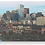 Thumbnail: Boston Back Bay Aerial - Wooden Canvas Print
