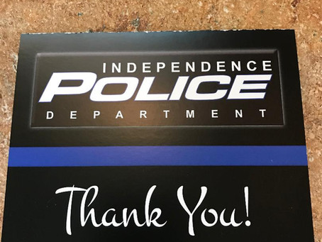 Thank you from Independence Police Department