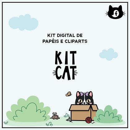 kit papéis e cliparts cats