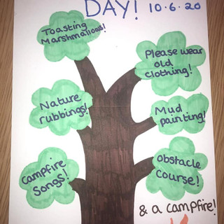 Next up, our forest school day!