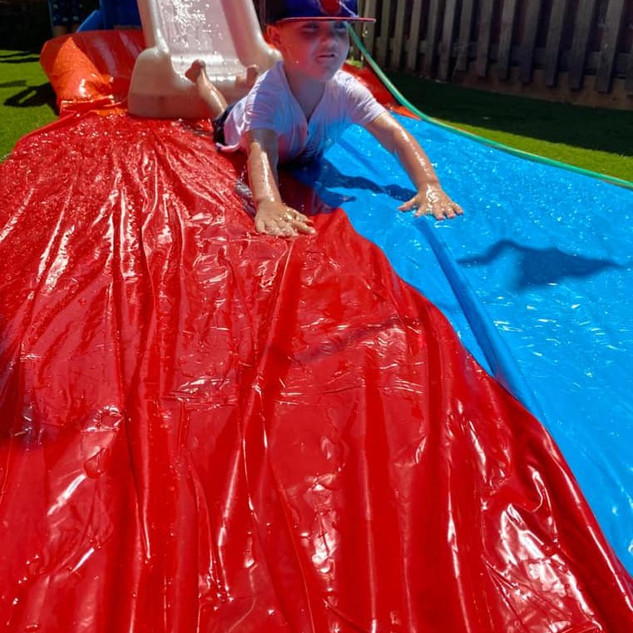 Our very own water slide