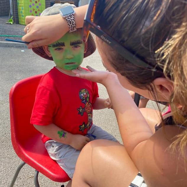 Face paints at our festival!