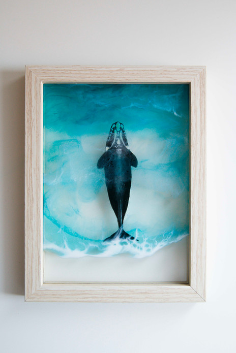 Right whale & resin sea
