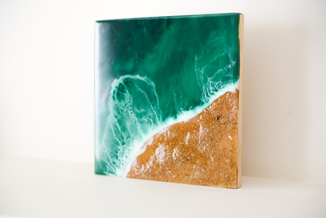 Resin art on MDF pannel 20x20 cm
