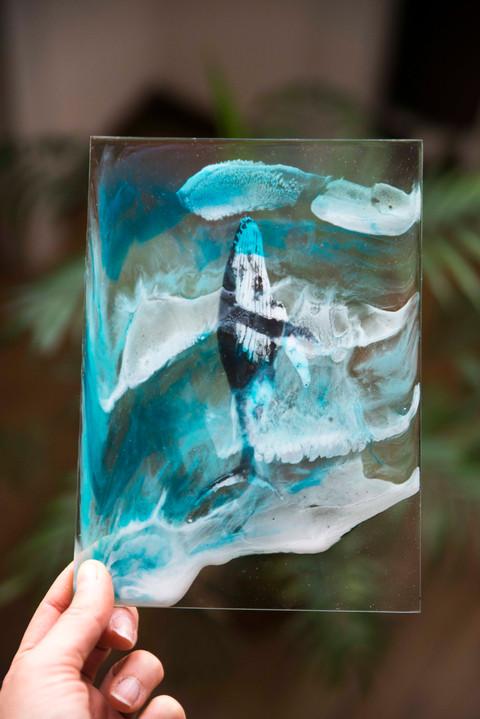 Humpback whale & Resin sea