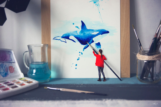 Painting whales