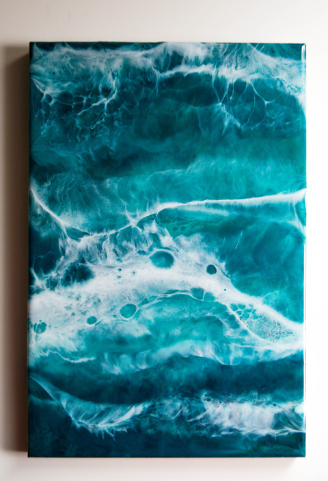 Resin art on MDF pannel 20x30 cm