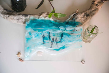 Bottlenose dolphins & Resin sea