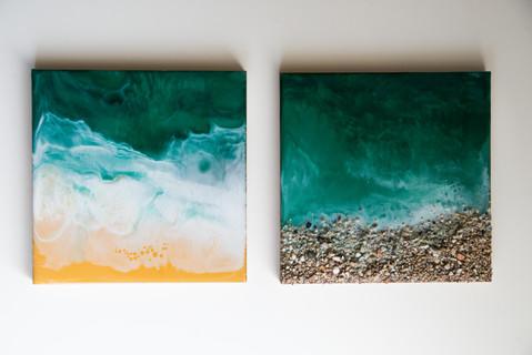 Resin art | 15x15 cm | on MDF