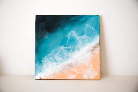 Resin art on MDF pannel 30x30 cm