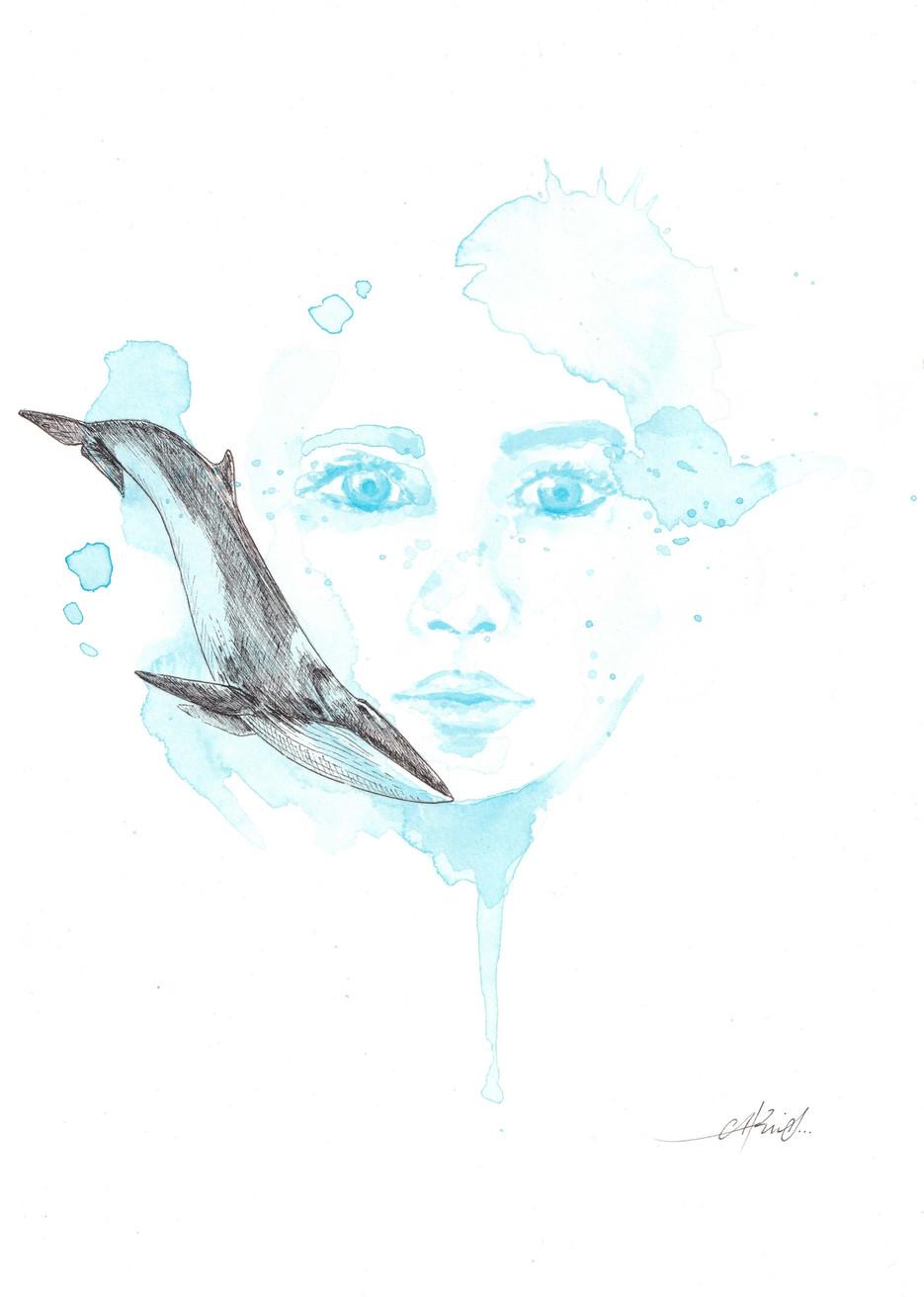 La niña y la ballena