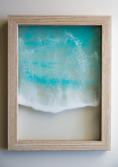 Minimalist resin beach