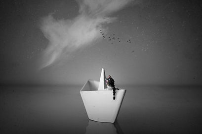 Conceptual photography boat akris photography