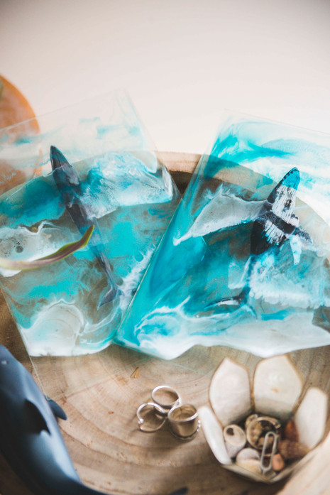 Whales & resin sea