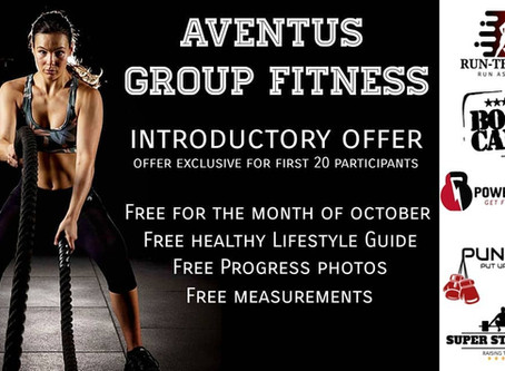 FREE GROUP FITNESS IN OCTOBER