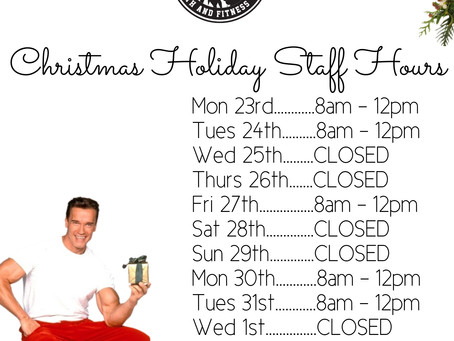 Staff Hours During Holiday Season