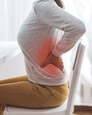 Kidney pain. Sick back in a woman from s