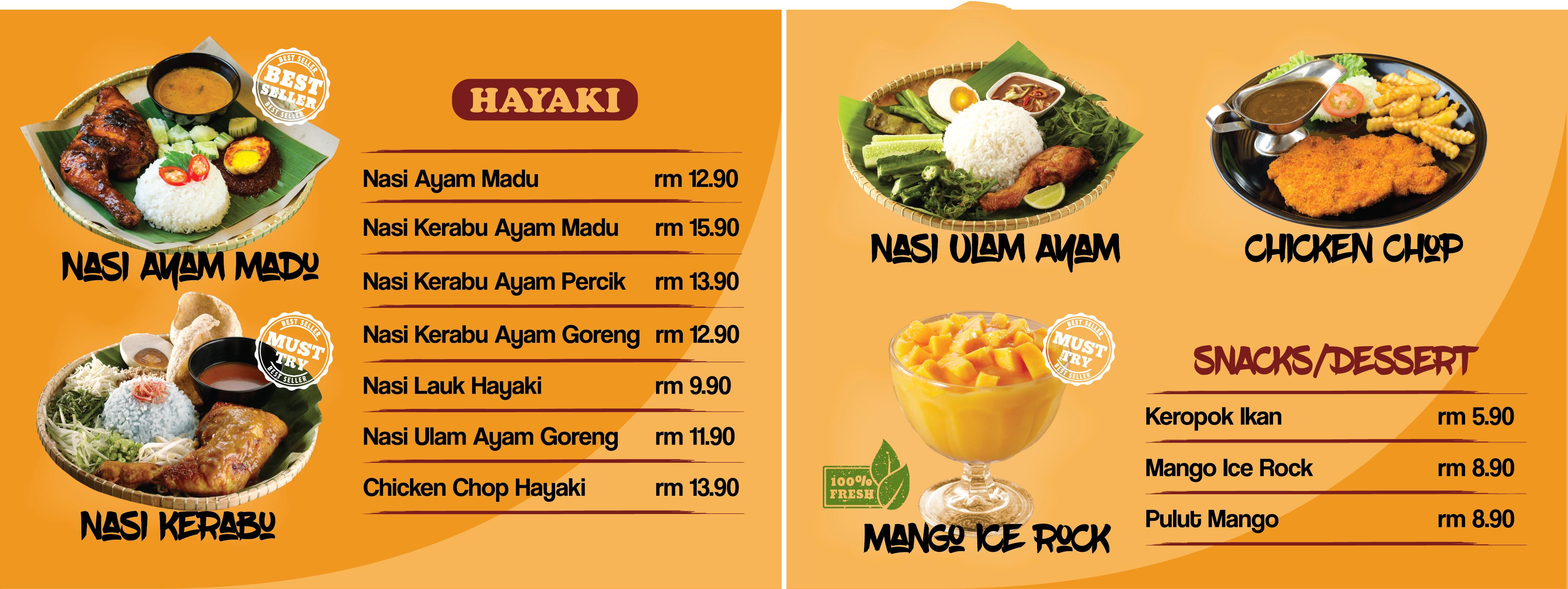 Aeon Shah Alam HAYAKI Board