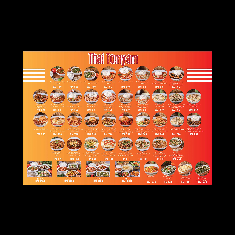 Thai Tom Yam Kitchen Menu