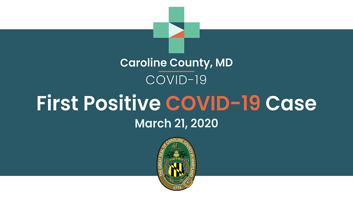 The Caroline County Commissioners share a message regarding the County's first case of COVID-19. They ask for the community's help in stopping the spread of the virus.