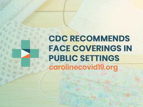 CDC Recommends Homemade Cloth Face Coverings in Public Settings