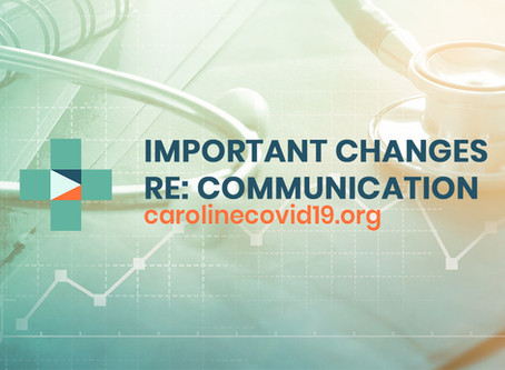 Important Changes to Communication Tempo and Contact Tracing