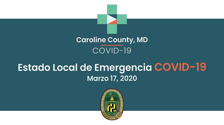 Video en Espanol:  Los comisionados del condado de Caroline declaran el estado local de emergencia con respecto a la pandemia COVID-19