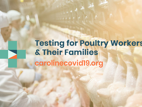 COVID-19 Testing for Poultry Plant Workers in the Federalsburg Area & Their Families