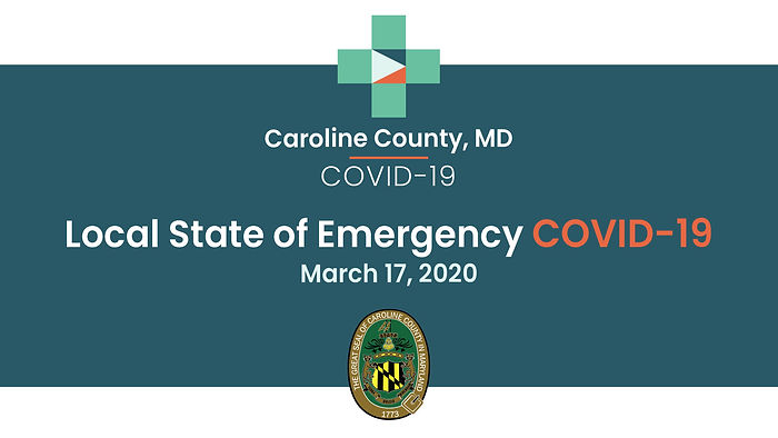 Caroline County Commissioner Larry Porter discusses the County's local state of emergency in response to the COVID-19 virus. Video includes American Sign Language (ASL).