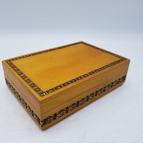 Hand Carved Wooden Box Made in Poland